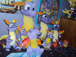 My Spyro The Dragon Plushie Collection Again 2 by DazzyADeviant