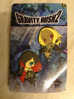 Gravity Rush 2 - Kat And Raven Pins by DazzyADeviant