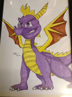 Spyro The Dragon Picture, Drawn By Conor Calvert by DazzyADeviant
