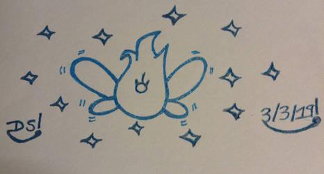 Wandering Fairy Drawing by DazzyADeviant