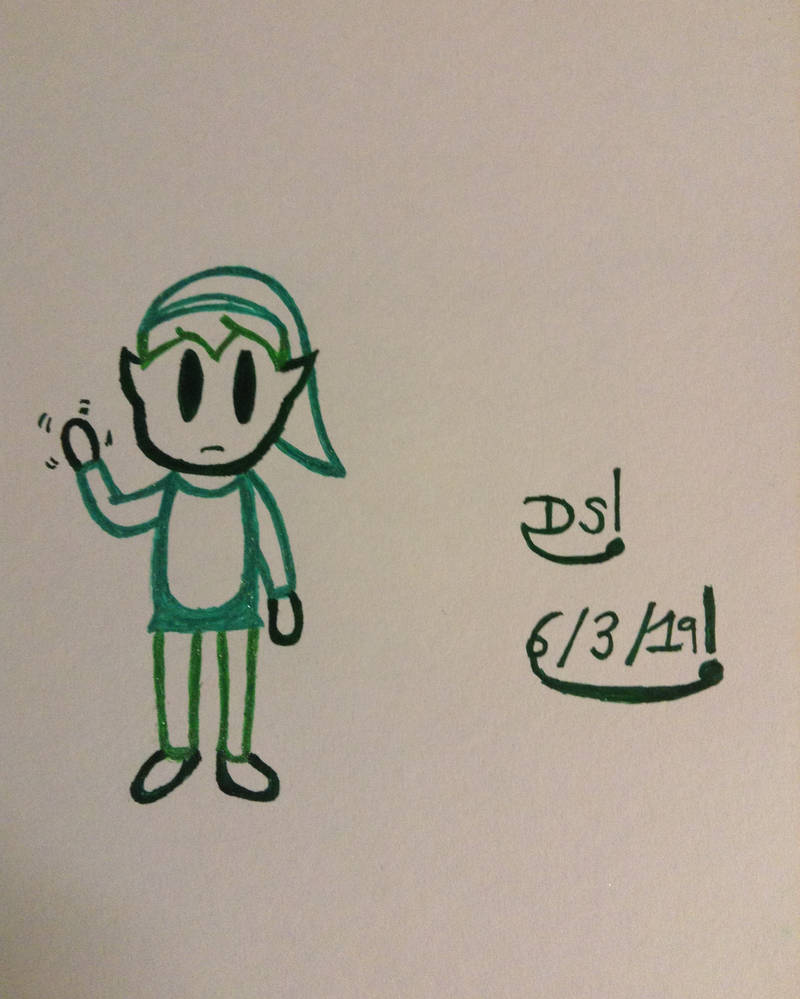 Puppet Link Waving Drawing by DazzyADeviant