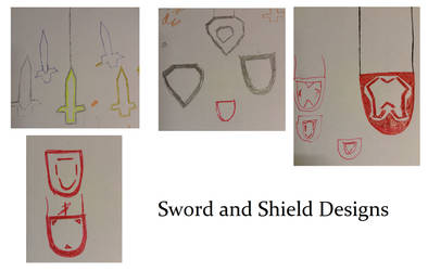 Sword and Shield Designs by DazzyADeviant