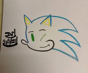 Sonic Drawing by DazzyADeviant