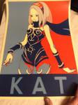 Gravity Rush Poster ft. Kat