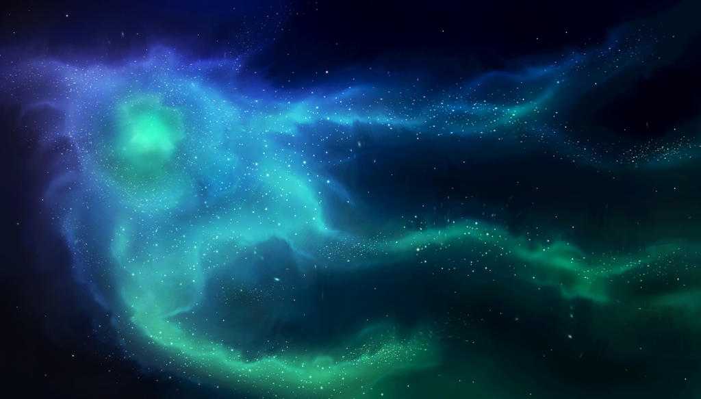 Stock Image - Blue Space Nebula by ParadisiacPicture