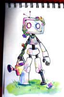 Robot des fleurs