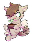 Take care of the baby plant (Art trade)