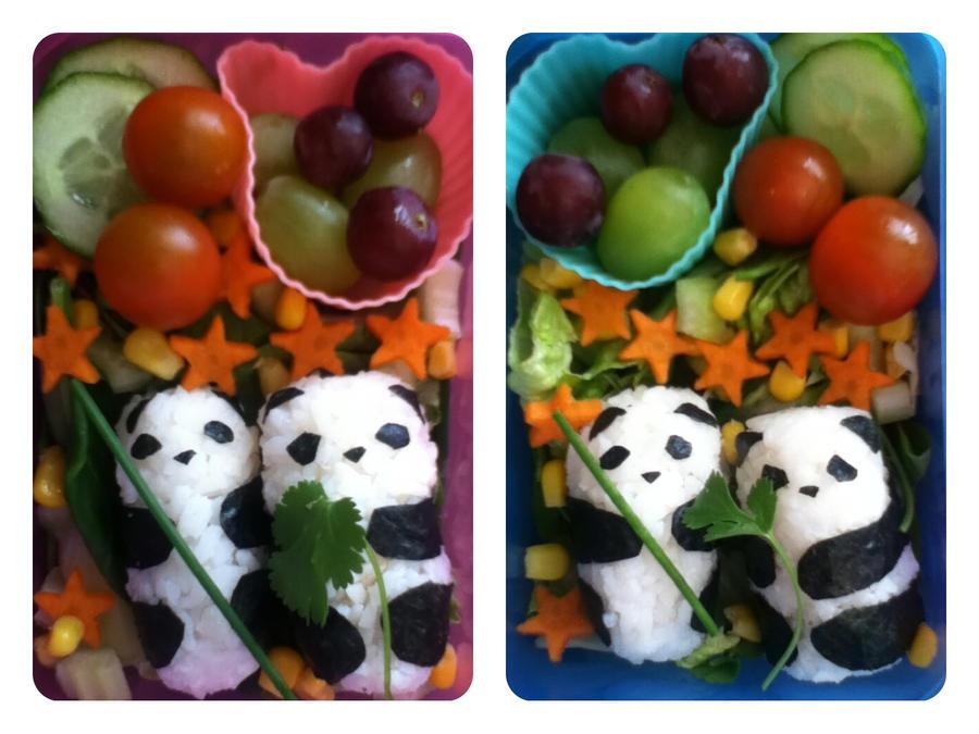 Bento ~ Charaben ~ Baby Pandas *kawaii!* by mitsubachichan