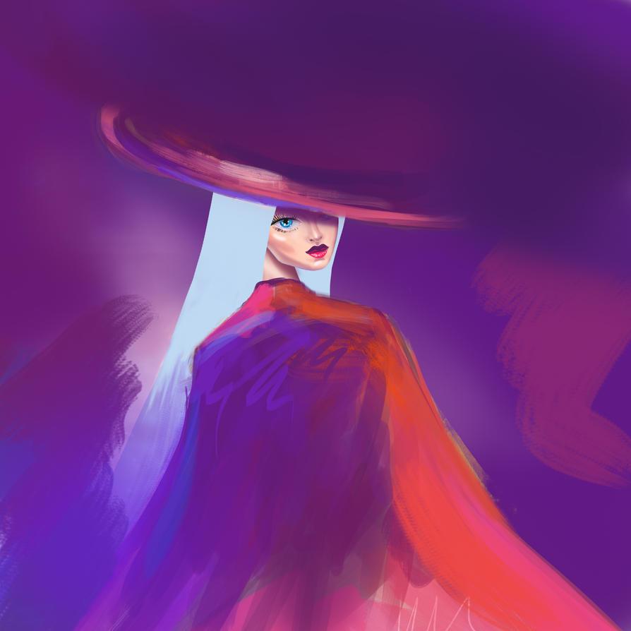 girl in the hat by shakeemilk