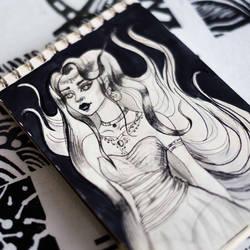 Sketch  10 #inktober by shakeemilk