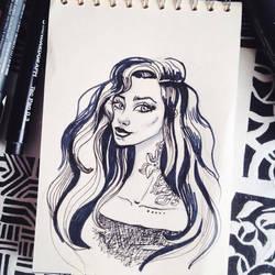 Sketch  13  #inktober by shakeemilk
