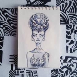 Sketch #inktober by shakeemilk