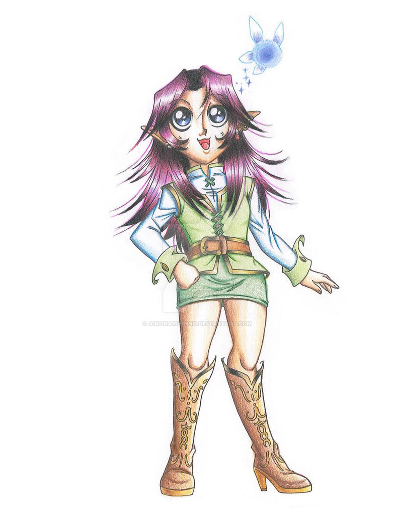 OC: Tanahira, the Kokiri Girl by AiKoNaishinno