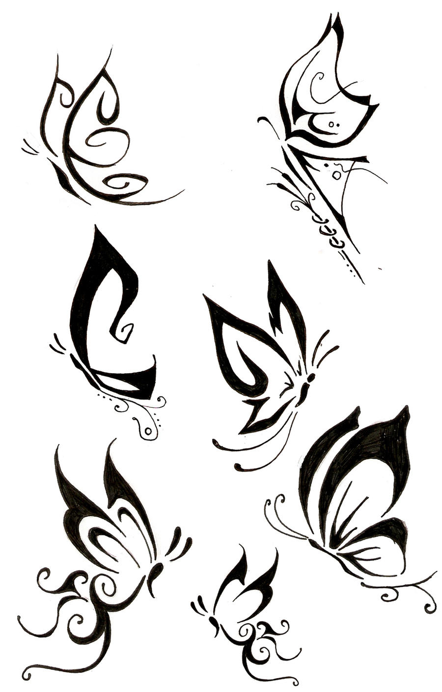 butterfly tattoo by the fox hound on deviantart. Black Bedroom Furniture Sets. Home Design Ideas