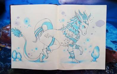 Drachen Federkleid (Dragon Feather Dress)
