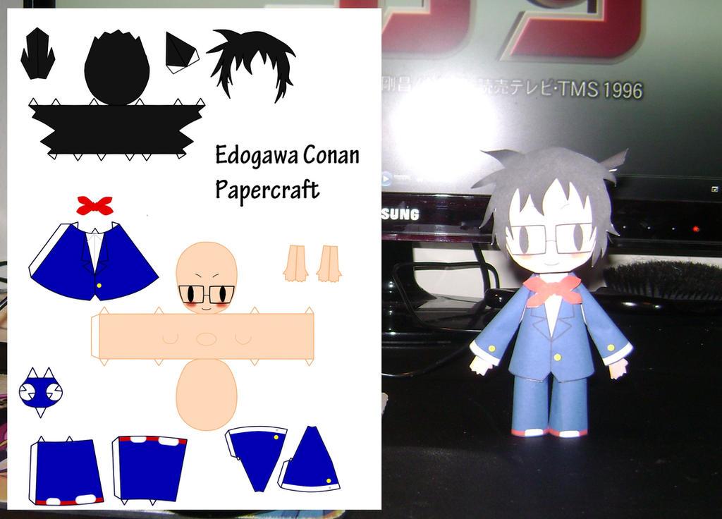 Edogawa Conan Papercraft by Monokrome-Clover