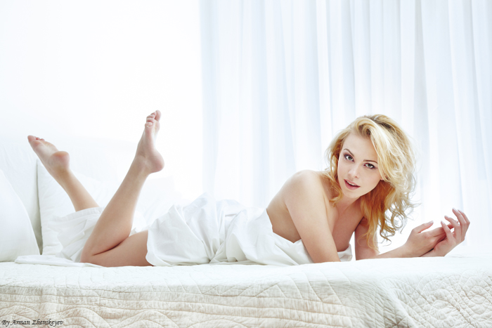 In the bed