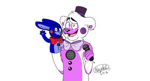 Funtime Freddy And Puppet Bonnie by KodiaStar