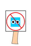 Anti cartoonito Sign (PNG)