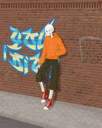 Underswap Papyrus (and a brick wall)