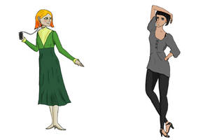 (Resubmitted) Character Concept: Janet and Sam