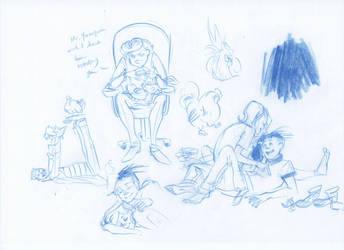 EEnE- Sappy sketchdump by Myss-nomer
