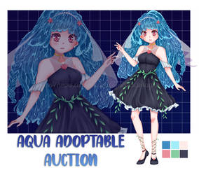 [OPEN] AUCTION Aqua Girl by Madmayko