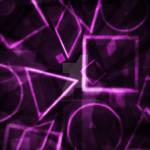 Geometric Clutter Purple