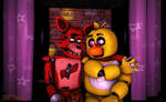 Foxy x Chica (Commission)