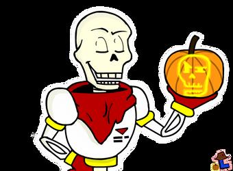 Undertale Halloween ~ Papyrus by Laukku2000