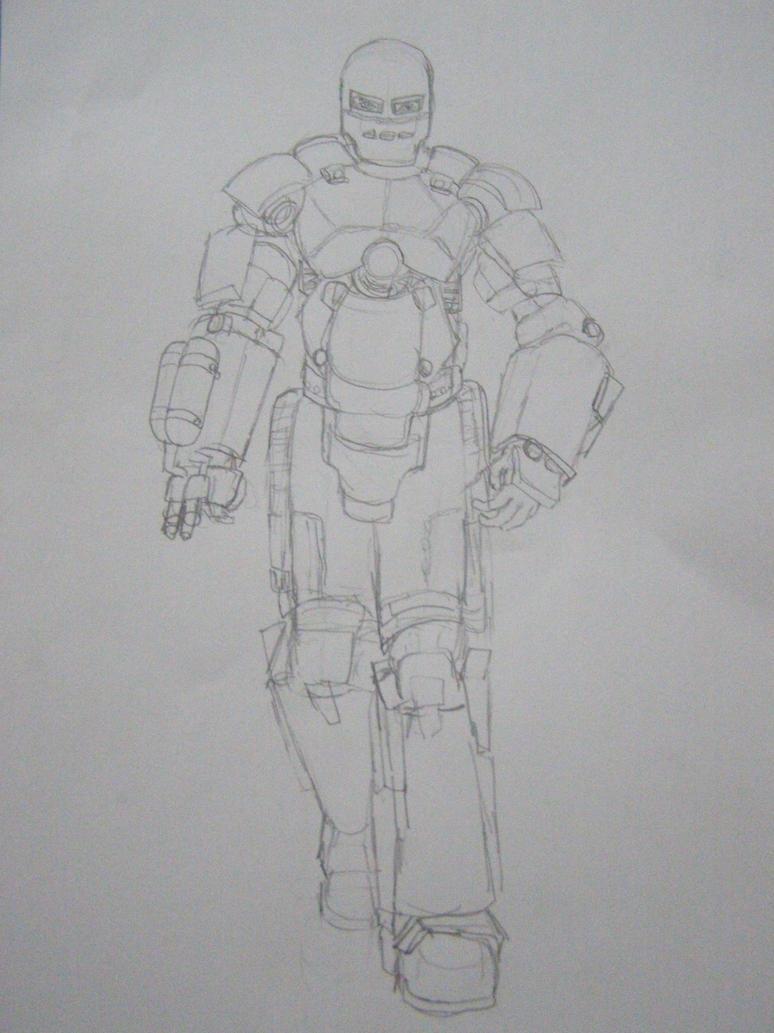 Iron Man Mark 1 Sketch By New-math1z On DeviantArt
