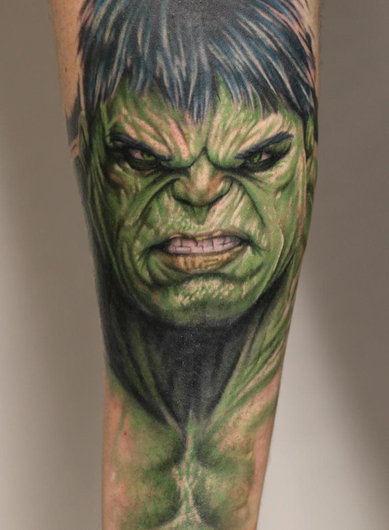 Beautiful Hulk Tattoo By Sandmannder3 ...