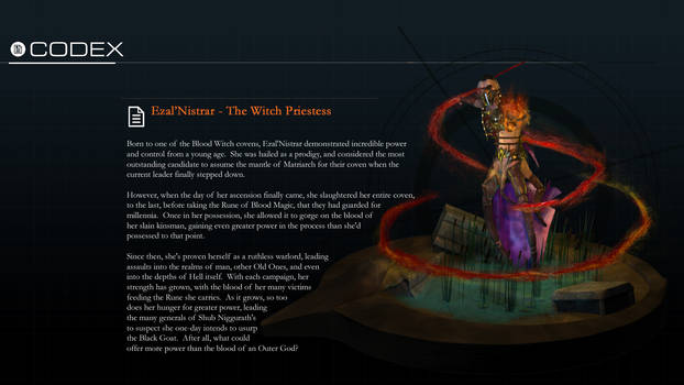 Ezal'Nistrar | The Witch Priestess