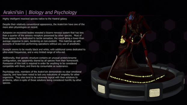 Arakni'siin | Biology and Psychology