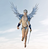 The angel Kaliel by Aniwayalone