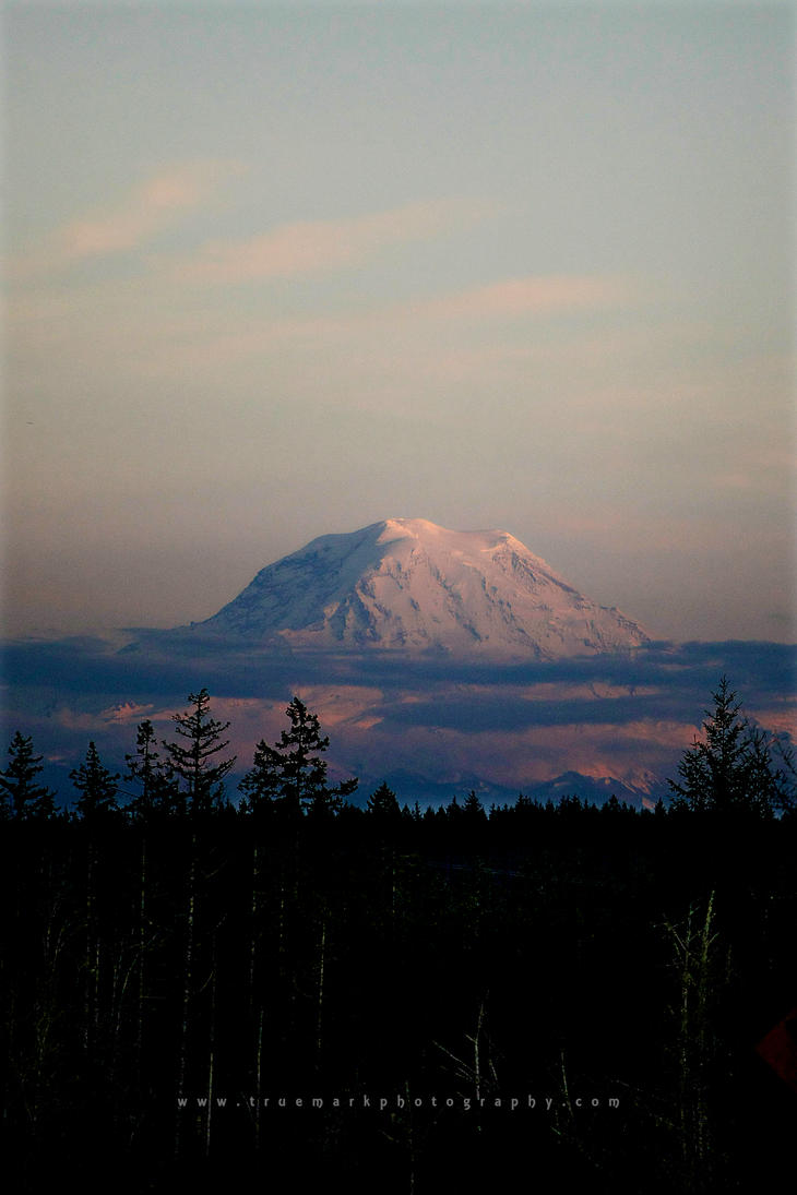 Mt. Rainier at Dusk by TruemarkPhotography