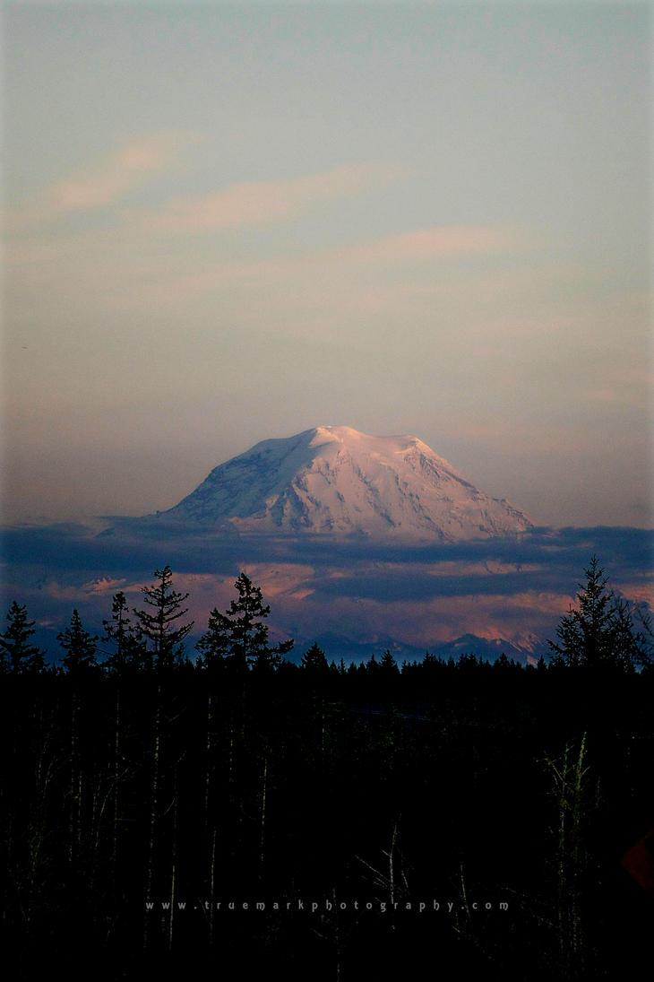 Mt. Rainier at Dusk by TruemarkPhotography