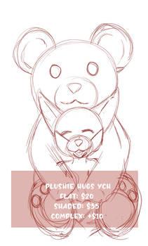 Plushie Hugs - YCH