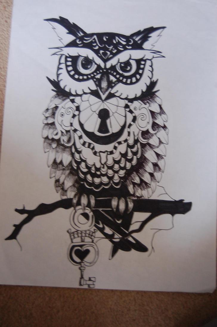 Owl Tattoo Design By Pifferz On Deviantart