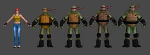 Ninja Turtles and April