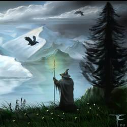 Odin Watching (detail)