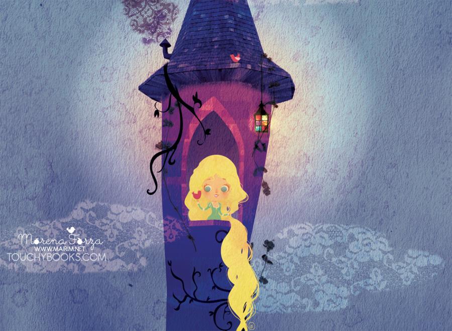 Rapunzel in her Tower by mairimart