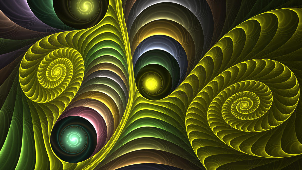 Spinning illusion fractal