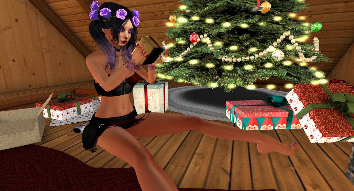 Rose Lolita Goth after christmas by MillianaRose