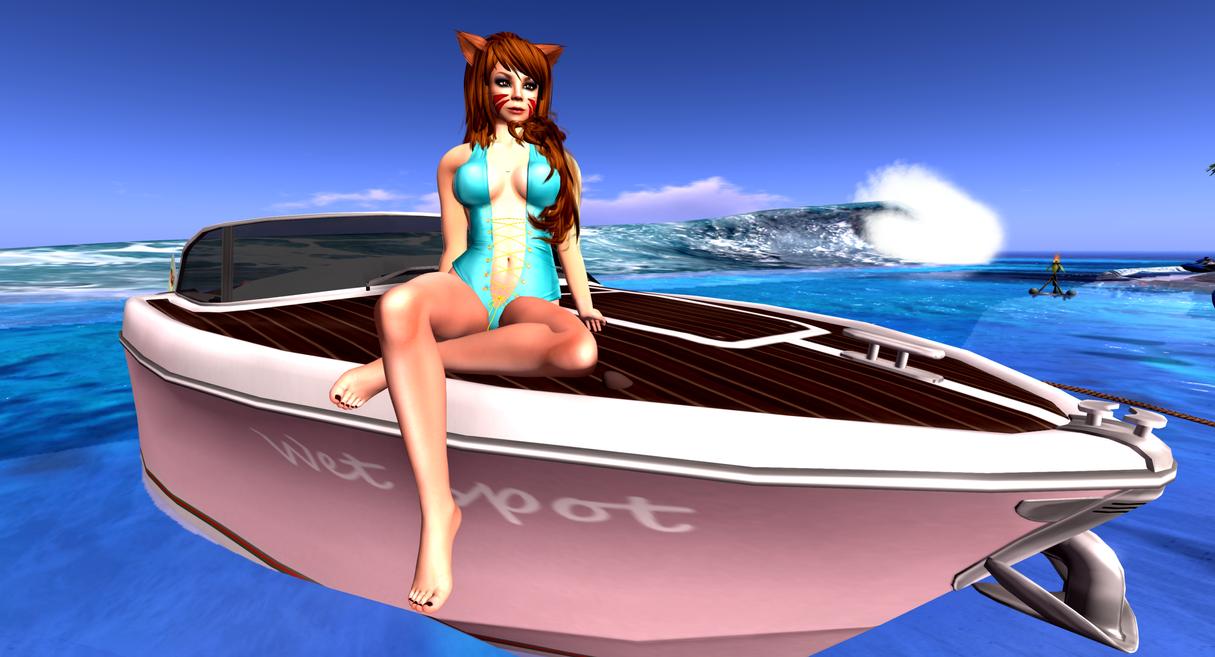 Kitty Take time surfer Bay by MillianaRose