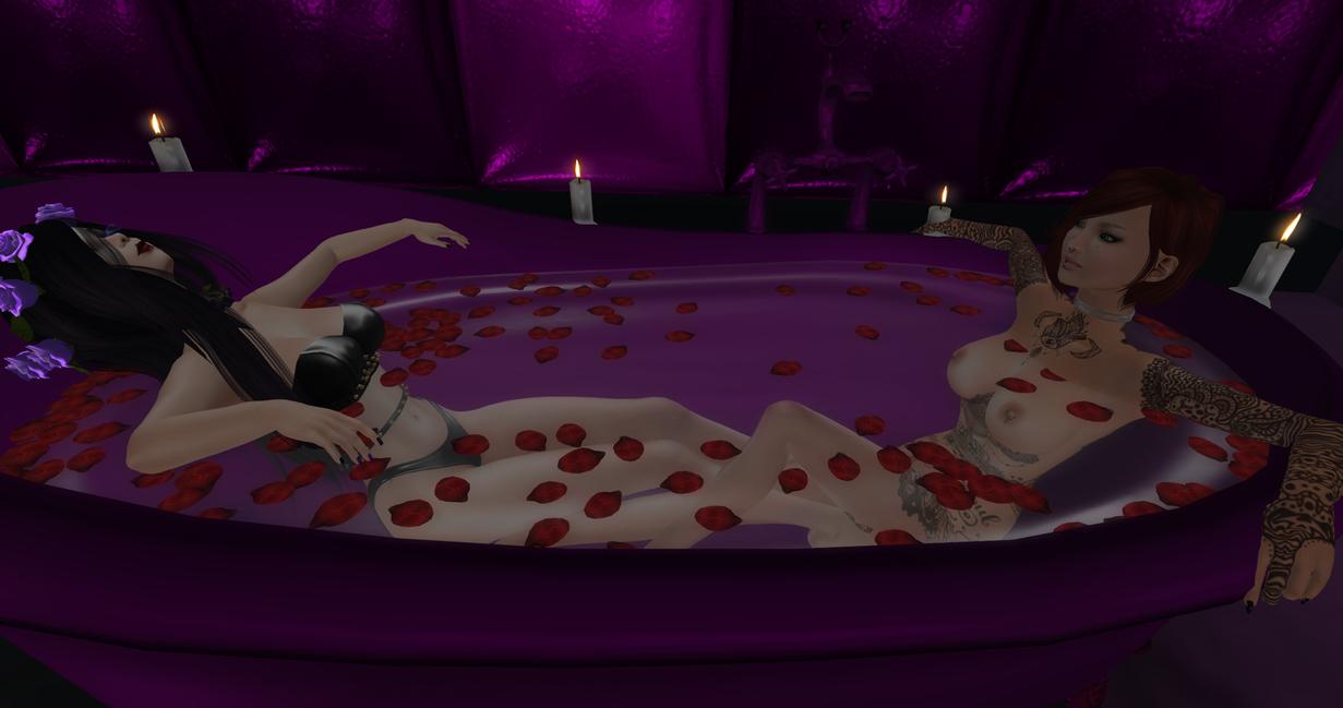 Purple Bath with the little one Fraanie by MillianaRose