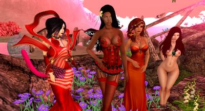 Rose  Tara and Kita Red clothing by MillianaRose
