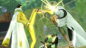 One Piece PW3 Kizaru vs rayleigh