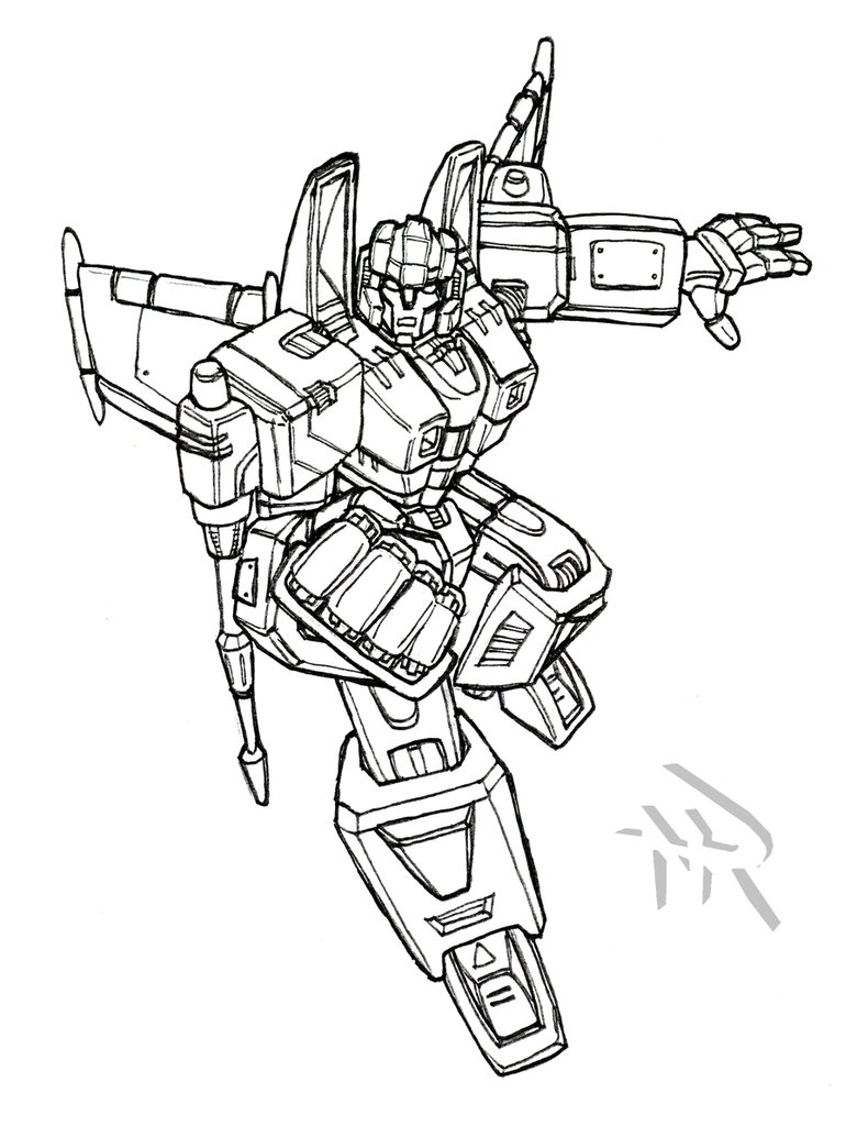 Transformers g1 starscream coloring coloring pages for Starscream coloring page