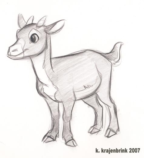 Baby Goat by kayjkay on DeviantArt